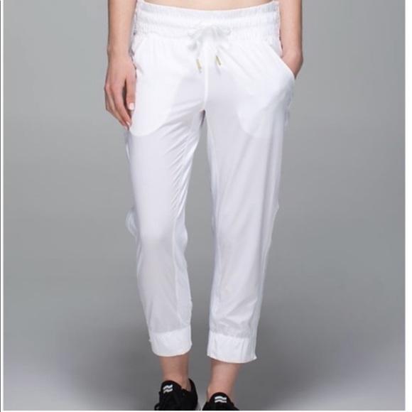 RARE Lululemon White Tear Away Pants